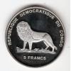 REPUBLICA DO CONGO - 5 Francos 2000 - km#63