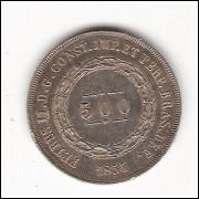 500 Reis - 1854 - data emendada - mbc/sob (587)=2