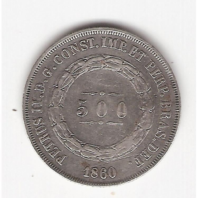 500 reis - 1860 - mbc/sob (593)=2