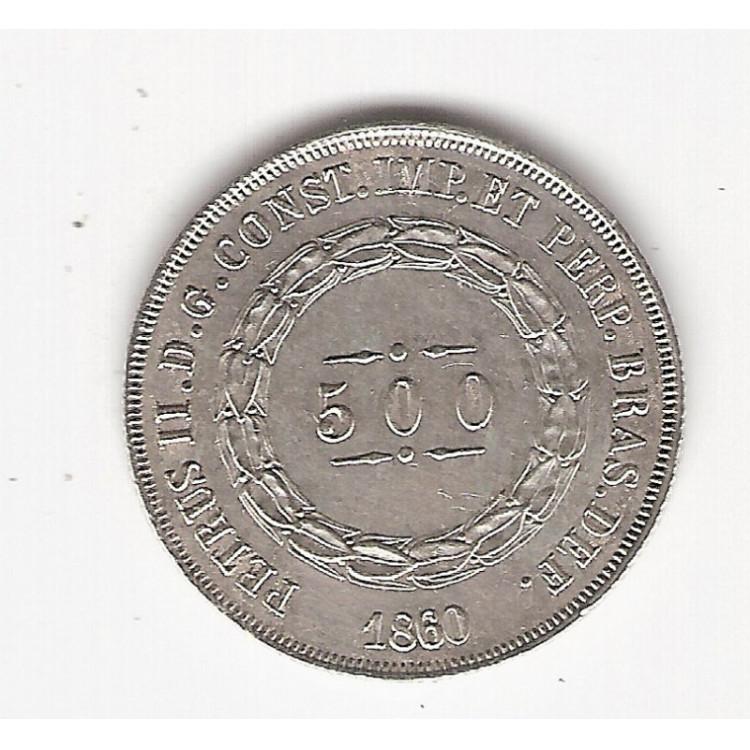 500 reis - 1860 - sob (593)=2