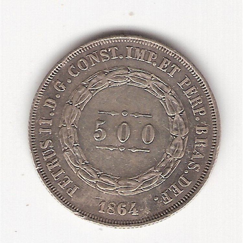 500 reis - 1864 - mbs/sob  (597)=2