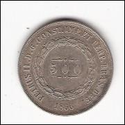 500 Reis - 1866 - mbc/sob - (599)=2