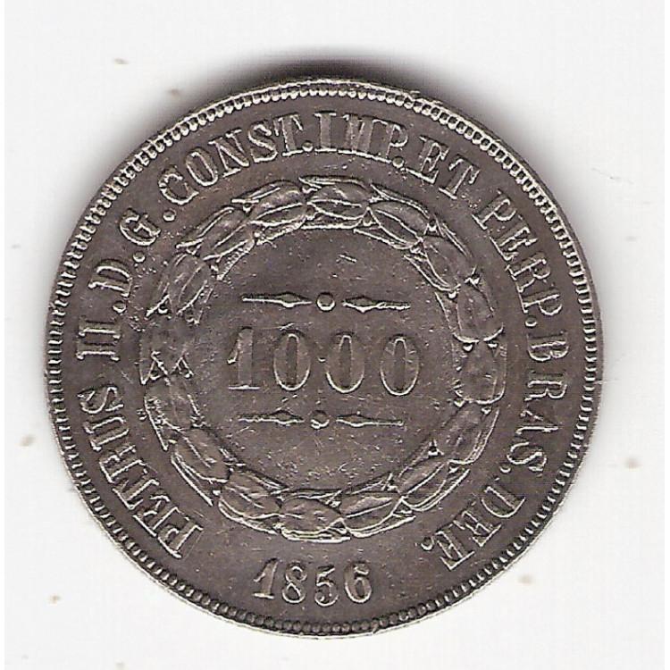 1000 reis 1856 - sob - ponto entre 0.0 (604b)=2