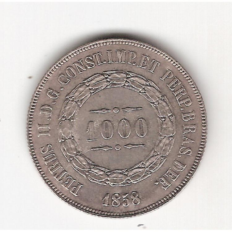 1000 reis - 1858 - sob/fc (606)=2
