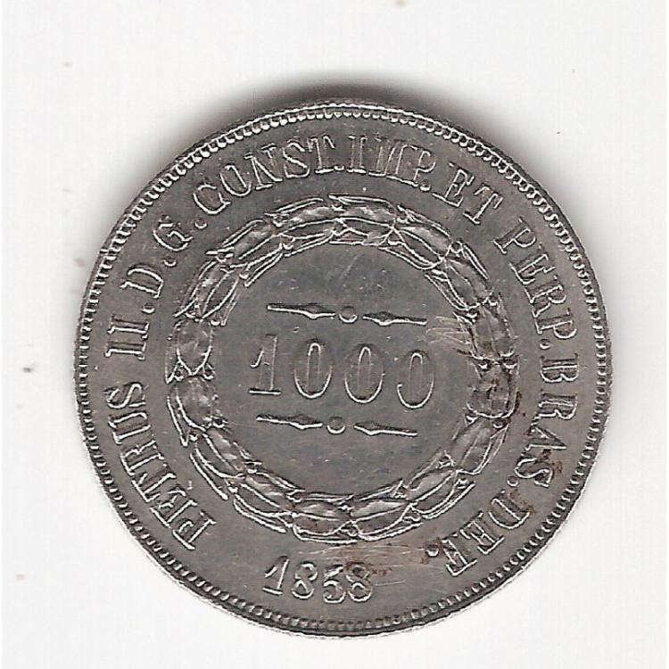1000 reis - 1858 - sob (606)=2
