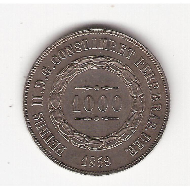 1000 reis - 1859 - sob/fc (607)=2