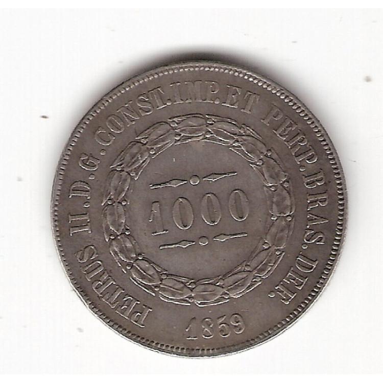 1000 reis - 1859 - mbc/sob (607)=2