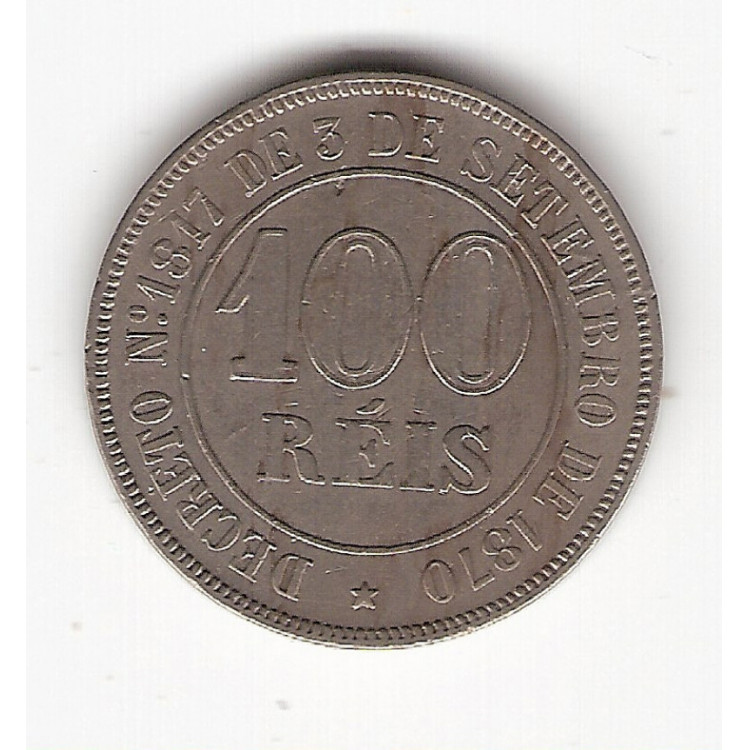 100 reis - 1871 - c/n - sob  (V002)
