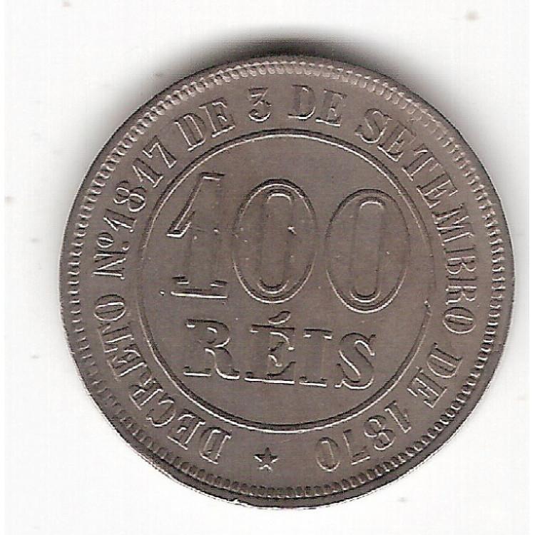 100 reis - 1884 - c/n - sob  (V014)