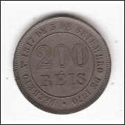 200 reis - 1874 - c/n - sob  (V017)