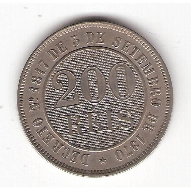 200 reis - 1887 -c/n - sob (V033)