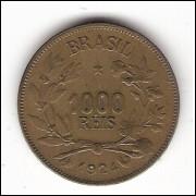 1924 - 1000 reis - Simbolo da Fortuna - sob/fc (V128)