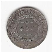 500 reis - 1849 - data emendada - ESCASSA - (562)