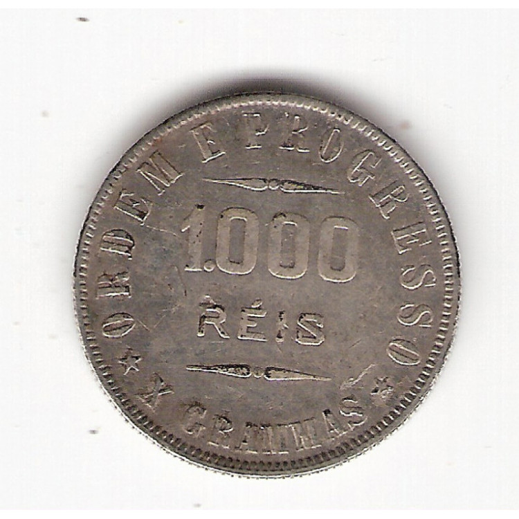 1000 Reis - 1910 - X Grammas - mbc/sob  (690)