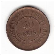 40 Reis - 1909 - mbc/sob (827)