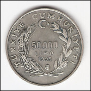 TURKIA - 50.000 Lira - Prova de 1995 - km#1037a