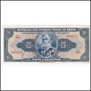 C-021 - VINTE CRUZEIROS - Autografada - 1943 - mbc/sob  (S.362)