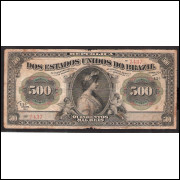 R-158 - 500.000 Reis - 1911 - mbc